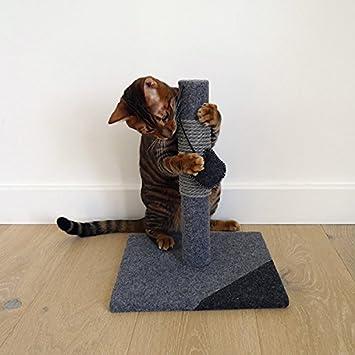 Rosewood - Poste de rascador para Gato de carbón y Estilo Moderno Hecho de Fieltro y Cuerda, pequeño, Color Gris: Amazon.es: Productos para mascotas