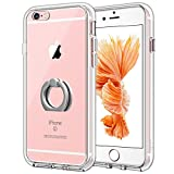 JETech Case for Apple iPhone 6s and iPhone 6, [Ring Holder Kickstand] Cover, Shock-Absorption Bumper, HD Clear