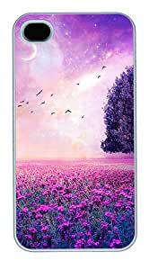 ICORER Unique iPhone 4S Cases and Covers Fairy Dream Nature Polycarbonate Hard Case for Apple iPhone 4S and iPhone 4 White