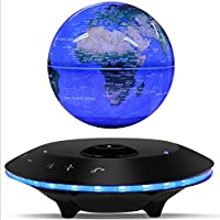 XZYP Globes,6inch LED 360 °Rotating Luminous Magnetic Levitating Floating Globe with Bluetooth Speaker for Desktop Office Home Decor Kids Educational