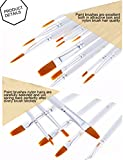 Wartoon - Pack of 12 Paint Brushes for Watercolour