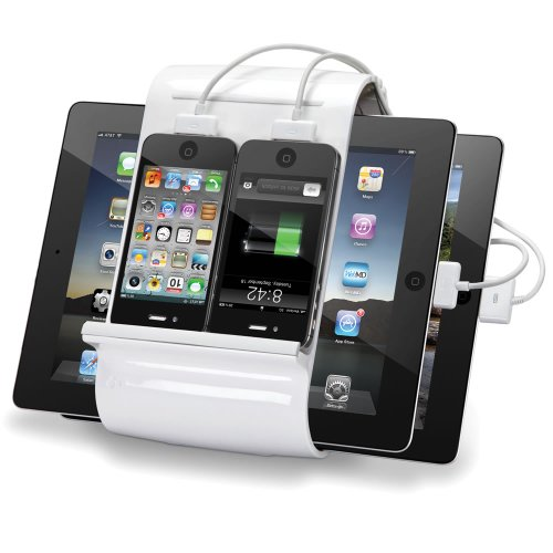 Kanex Sydnee 4-port 2.1A USB Charging Station for iPad, Kindle, Tablets, Smartphones - Snow by Kanex (Image #3)