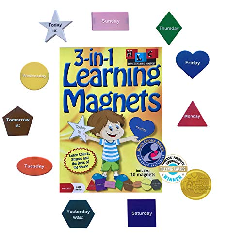 - Home Learning Company 3-in-1 Learning Magnets for Kids. Early Childhood Development with This Educational 10 Pieces Set for Refrigerator Fun. Mom's Choice Award and seen on TV.