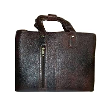 4648d74361c1d Genuine Leather High Grade Quality Dark Brown Colour Laptop Messenger Bag  for Office Use - by OMAX  Amazon.in  Bags