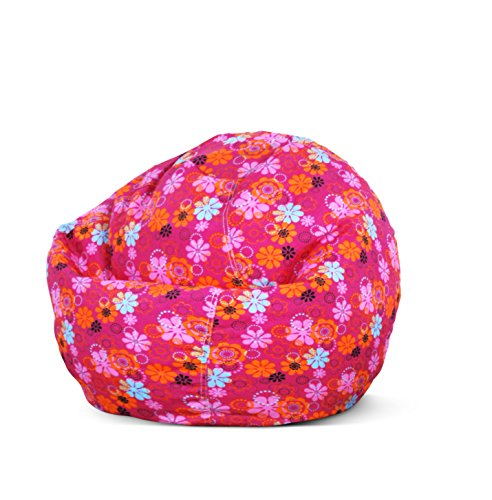 Bean Bag Factory Junior Bean Bag, Flower Print Cover (Dropship Flowers)