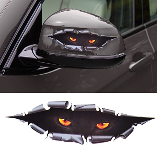 beler 3D Simulation Leopard Monster Eyes Car Sticker Auto Truck Decal Printed Window Decoration