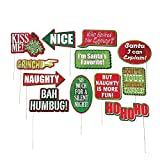 "Assorted designs of Christmas themed photo stick props. Each paper design comes on a 12"" wooden stick, perfect for creating unique and creative poses for your picture booth or photo shoot. Not recommended for children under 3 years of age. ..."