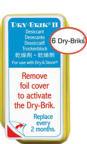 Dry-Brik® II Desiccant Blocks - 6 Blocks (2 Packs of 3 Blocks)| Replacement Moisture Absorbing Block for the Global II and Zephyr by Dry & Store | Hearing Device Dehumidifiers