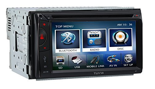 TUVVA KSD6102 2-DIN Car Stereo with MHL Mobile Connectivity