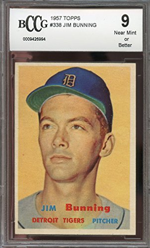 1957-topps-338-jim-bunning-detroit-tigers-rookie-card-bgs-bccg-9-graded-card