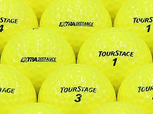 【ABランク】【ロゴなし】ツアーステージ EXTRA DISTANCE 2014年モデル イエロー 500個セット【ロストボール】 B07R48BGH2