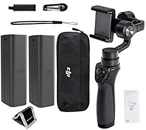 DJI Phone Camera Gimbal OSMO MOBILE, Spare DJI Osmo Intelligent Battery, Polaroid, Memory Card Wallet and Accessory Bundle