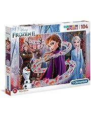 Clementoni 20162 Clementoni-20162-glitter Disney Frozen 2-104 delen, puzzel voor kinderen, meerdere kleuren
