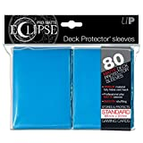 PRO-Matte Eclipse Light Blue Standard Deck Protector sleeves (80 count pack)