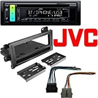 JVC KD-R890BT 1-Din In-Dash Car CD Receiver w/Bluetooth//USB/AUX/iPhone/Android Dash Install Mounting Kit Harness Dodge Eagle Jeep Plymouth 1974-2001