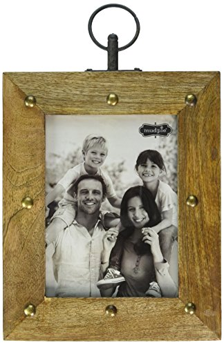 Mud Pie Nail head Wood Frame 5 X 7 (7 Inch Rosewood Picture Frame)