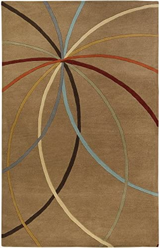 Surya Forum FM-7140 Contemporary Hand Tufted 100 Wool Driftwood Brown 2 x 3 Abstract Accent Rug
