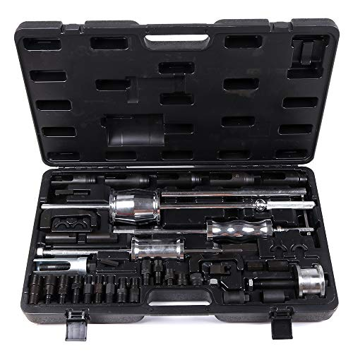 SCITOO 40pcs Fit Stubborn Diesels Engines Diesel Injector Extractor Master Tool Common Rail Tool Kit 3 Slide Hammers Various ()