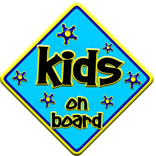 FUNKY KIDS Baby on Board Car Window Sign JTO