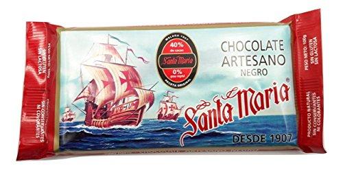 Santa María – Chocolate Artesano negro 100 gramos – Pack de 5 tabletas
