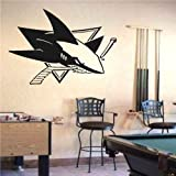 Wall Mural Vinyl Sticker Sports Logos Nhl-san Jose Sharks (S581)