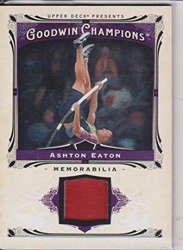 2013 Goodwin Champions Ashton Eaton Pole Vault Game Used Jersey Insert Card (Pole Champion Vault)