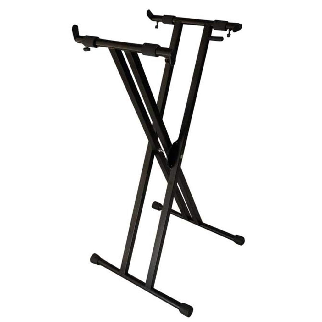 Synthesizers & Workstations Keyboard Stand Piano Stand Keyboard Stand and Bench Set Iron Home Guzheng Bracket Folding Keyboard Bracket (Color : Black, Size : High 90cm) by Synthesizers & Workstations