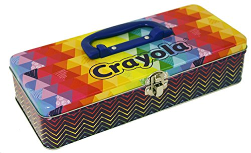 The Tin Box Company 180807-12 Crayola Large Storage Tin (Case Box Tin)