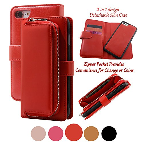 iphone 4 case wallet red - 9