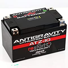 The Antigravity Restart lithium battery is the first battery manufactured with built-in jump-starting technology, so you won't ever get stranded with a dead battery again!Compact, lightweight lithium-ion battery directly replaces many OEM pow...