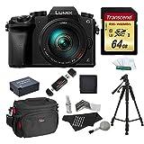 Panasonic DMC-G7HK Digital Single Lens Mirrorless Camera 14-140 mm Lens Kit, 4K + Starter Bundle + Transcend 64 GB High Speed 10 UHS3 + 57