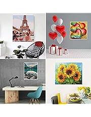 Schilderen op Nummer Kits Voor Volwassenen Verf en Kinderen Lijst Diy Schilderij Olieverfschilderij Borstels Acrylverf Tekening Canvas Decoratie Cadeau Kunst Zonder Frame