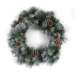 Darice Glacier Christmas Wreath: 18In - 105 Tips 49