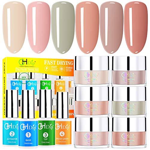 Dip Powder Nail Kit Acrylic Nail Dip Powder Kit G643 (6 nude colour)