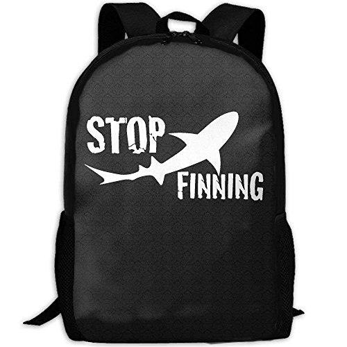 Backpack Stop Shark Finning Womens Laptop Backpacks Shoulder Bag Travel Daypack