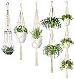 perfect patio wall decor ideas Mkono Macrame Plant Hanger Set of 5 Indoor Wall Hanging Planter Basket Flower Pot Holder Boho Home Decor Gift Box