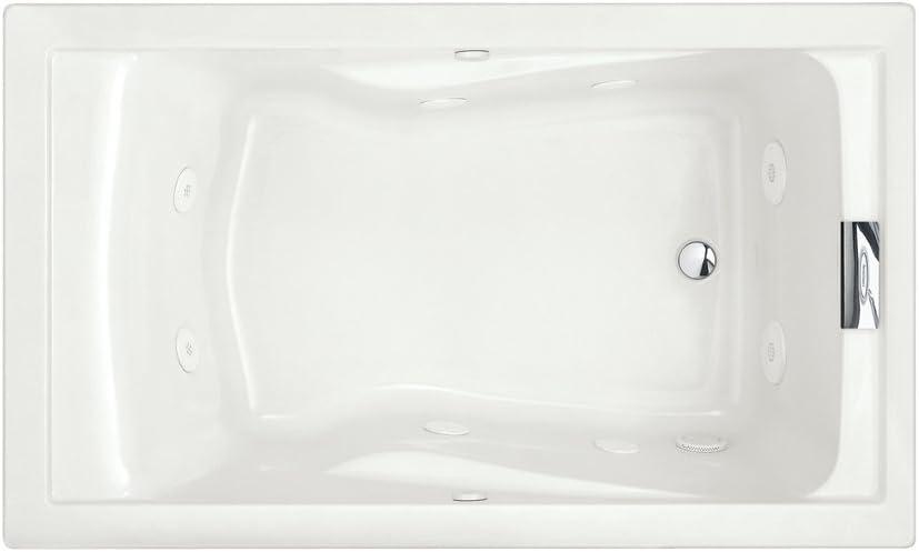 American Standard 2771VC.020 Evolution 5-Feet by 36-Inch Deep Soak Whirlpool Bath Tub with EverClean and Hydro Massage System I, White