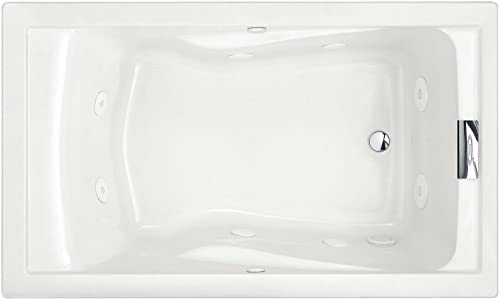 American Standard 2771VC.020 Evolution 5-Feet by 36-Inch Deep Soak Whirlpool Bath Tub with EverClean and Hydro Massage System I, White