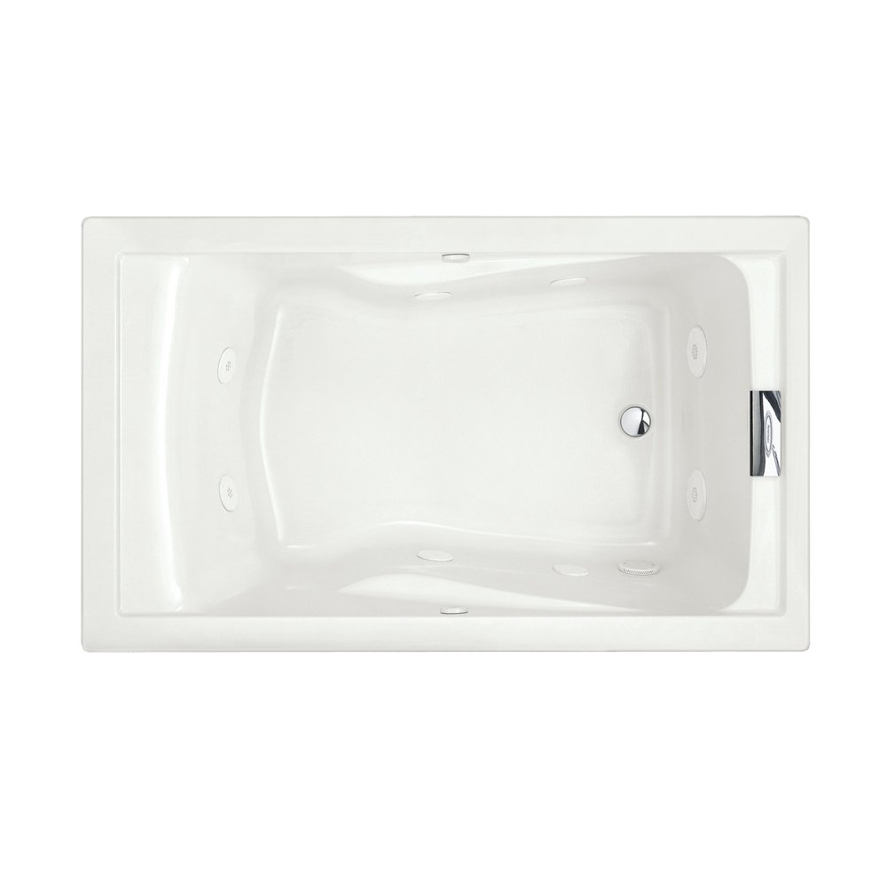 american standard 2771vc020 evolution 5feet by 36inch deep soak whirlpool bath tub with everclean and hydro massage system i white drop in bathtubs - Jetted Tubs