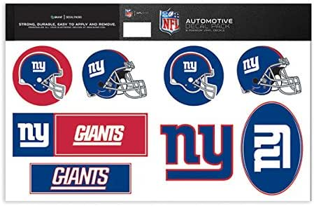3-Pack NFL New York Giants Team Decal