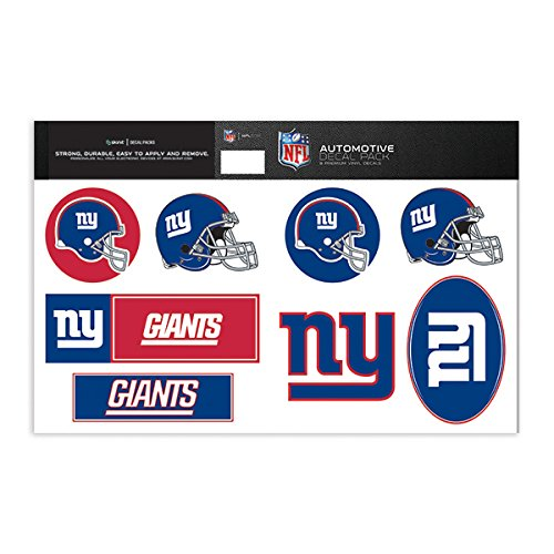 Skinit New York Giants Decal Packs - Officially Licensed by the NFL - 8 Premium 3M Vinyl Stickers