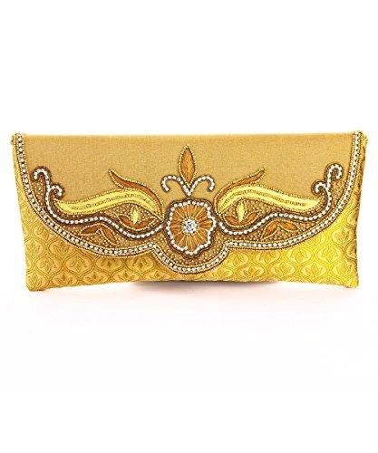 LadyBugBag brown Silk Designer Clutch – LBB10170