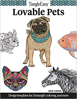 Zentangle Templates | Amazon Com Tangleeasy Lovable Pets Design Templates For Zentangle