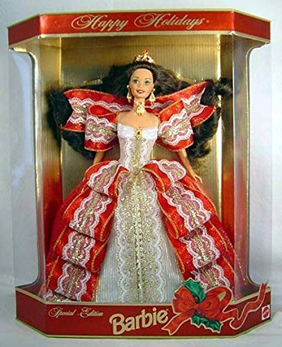 Barbie Happy Holidays Doll - Special Edition 10th Aniversary Hallmark 5th in Series (1997) -