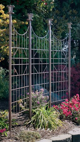 amazon com h potter large iron garden trellis screen patio