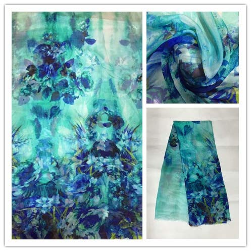 (140cm New Summer Print 100% Silk Chiffon Sewing Fabric Cloth Fashion Colorful Leopard Design 1 Silk 6Momme Dsf19)