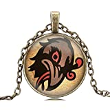 Bioshock Infinite Murder of Crows Vigor Glass Dome Pendant Necklace Choker Chain Necklace Best Friend Gift Jewelry