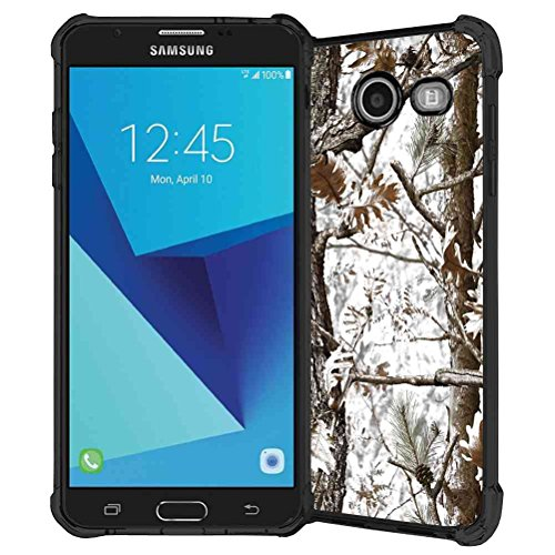 Galaxy J7 V Case, Galaxy J7 Prime Case, Galaxy J7 Perx Case, Galaxy J7 Sky Pro / Galaxy Halo Case, ABLOOMBOX Hunting Camo Fabric Camouflage Pattern TPU Rubber Soft Skin Silicone Protective Case (Pink Halo Pattern)
