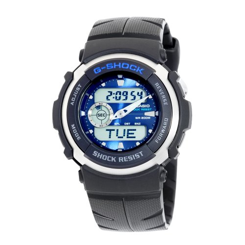 Casio Men's G300-2AV G-Shock Ana-Digi Shock Resistant Street Rider Sports Watch ()
