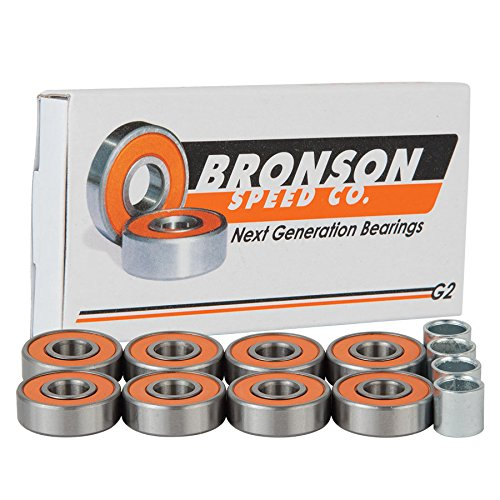 Bronson Speed BOX/8 G2 Skateboard Bearings (Best Skateboard Bearings For Speed)